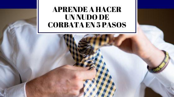 nudo de corbata básico en 5 pasos
